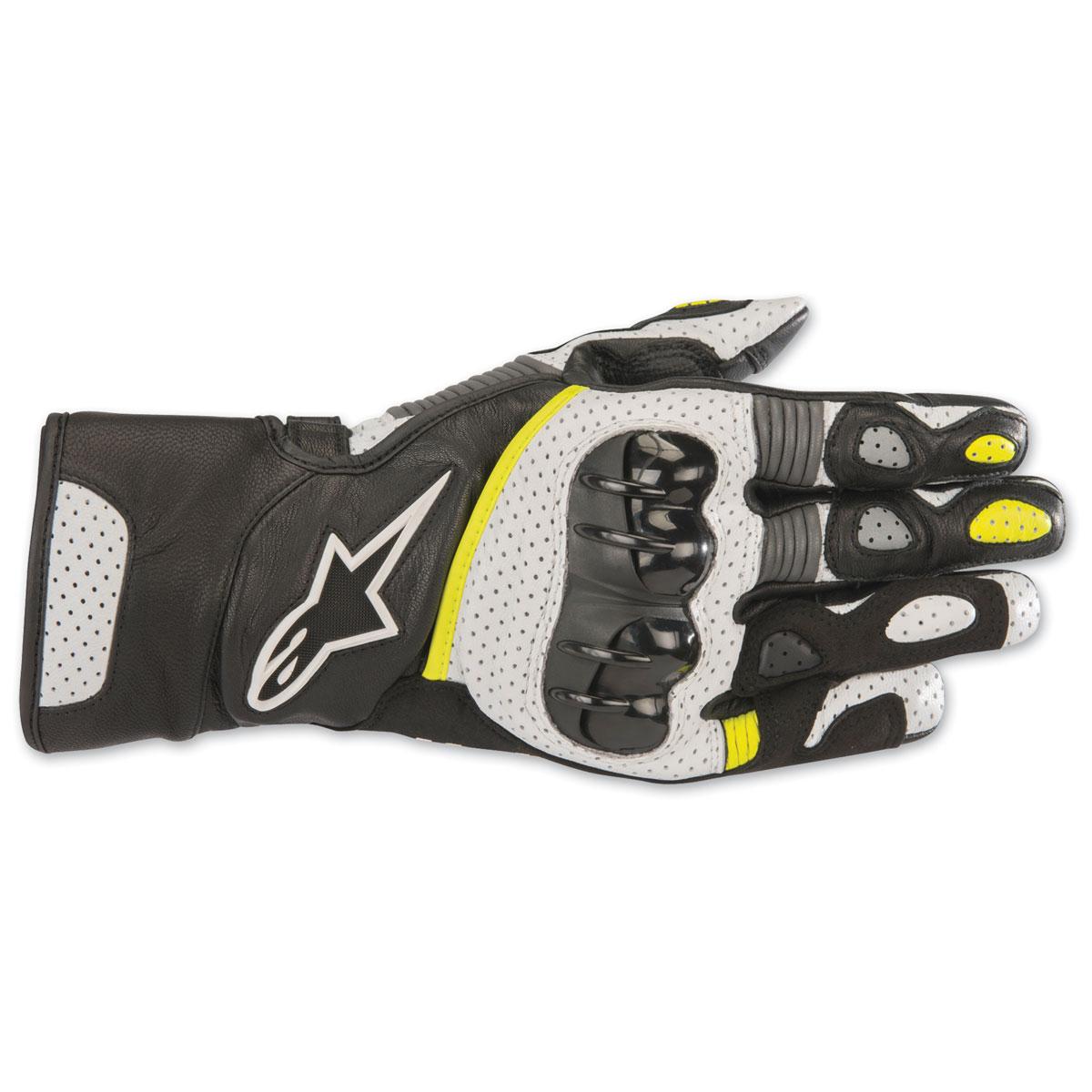 Alpinestars Men's SP-2 v2 Black/White/Yellow Gloves