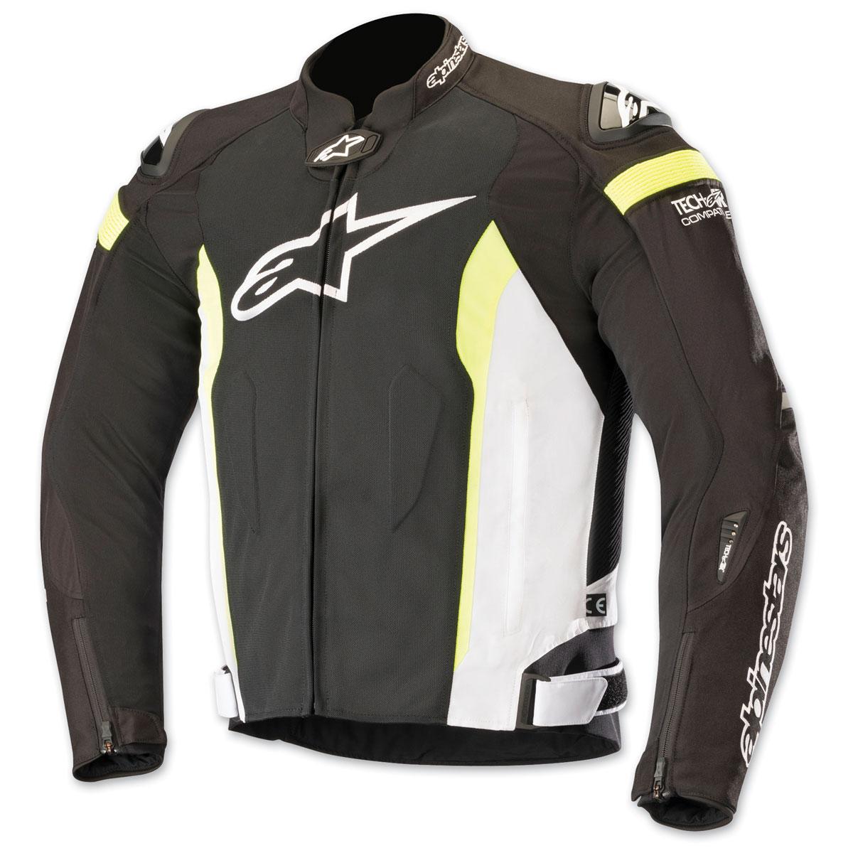 Alpinestars Men's T-Missile Air Black/White/Yellow Textile Jacket