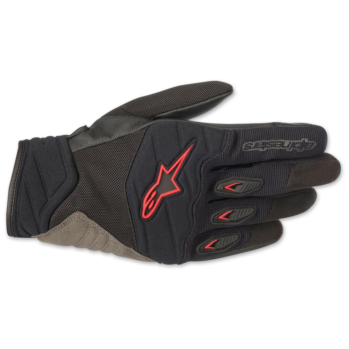 Alpinestars Men's Shore Black/Red Gloves
