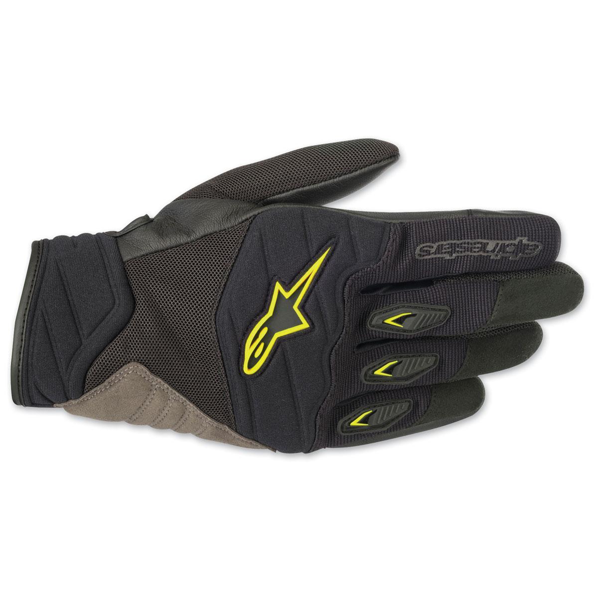 Alpinestars Men's Shore Black/Yellow Gloves