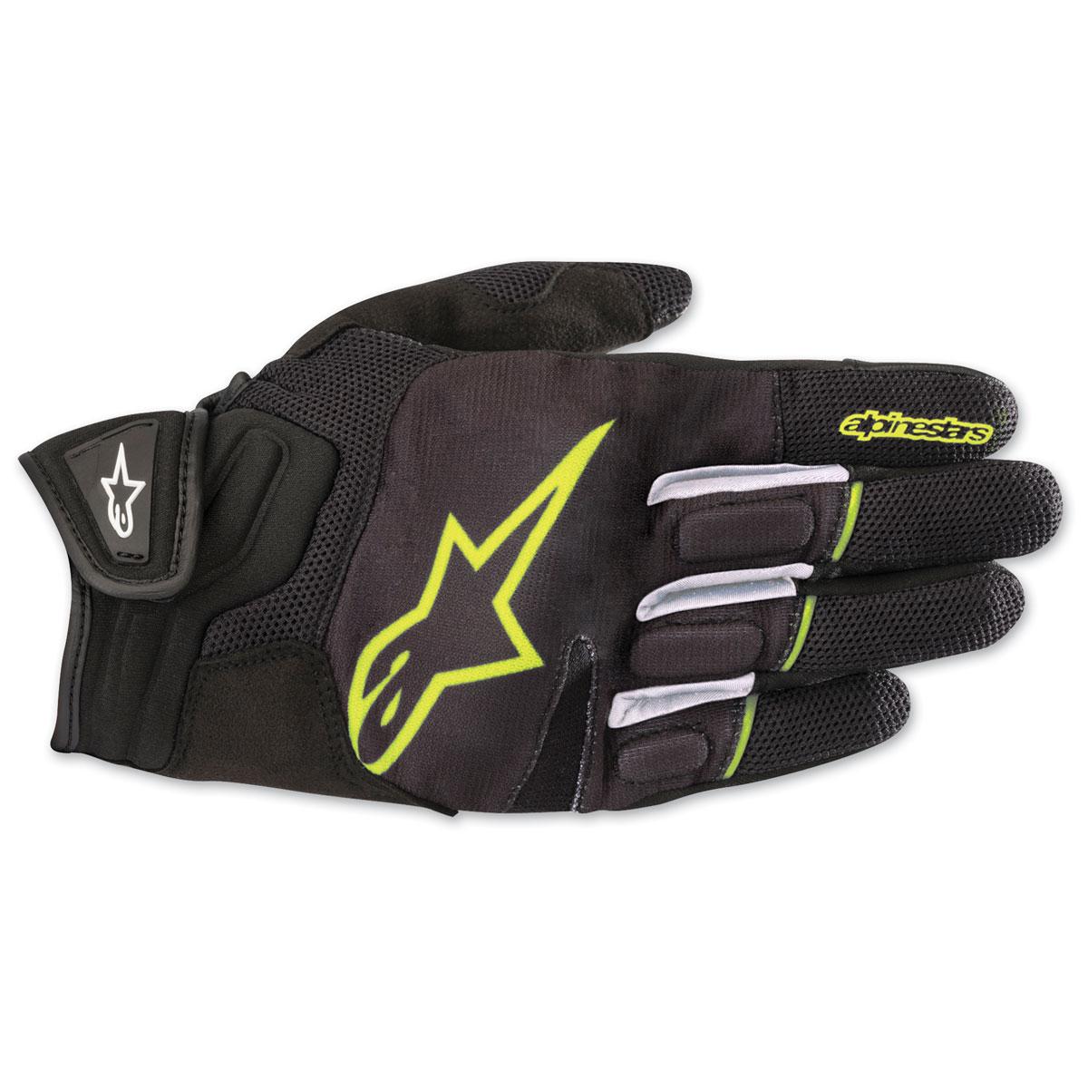 Alpinestars Men's Atom Black/Yellow Gloves