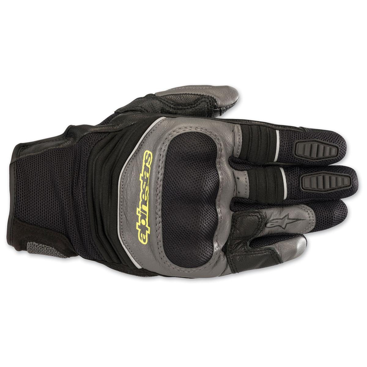 Alpinestars Men's Crosser Air Black/Gray/Yellow Gloves