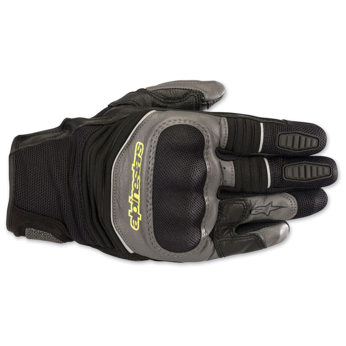 Alpinestars Men's Crosser Air Black/Gray/Yellow Gloves