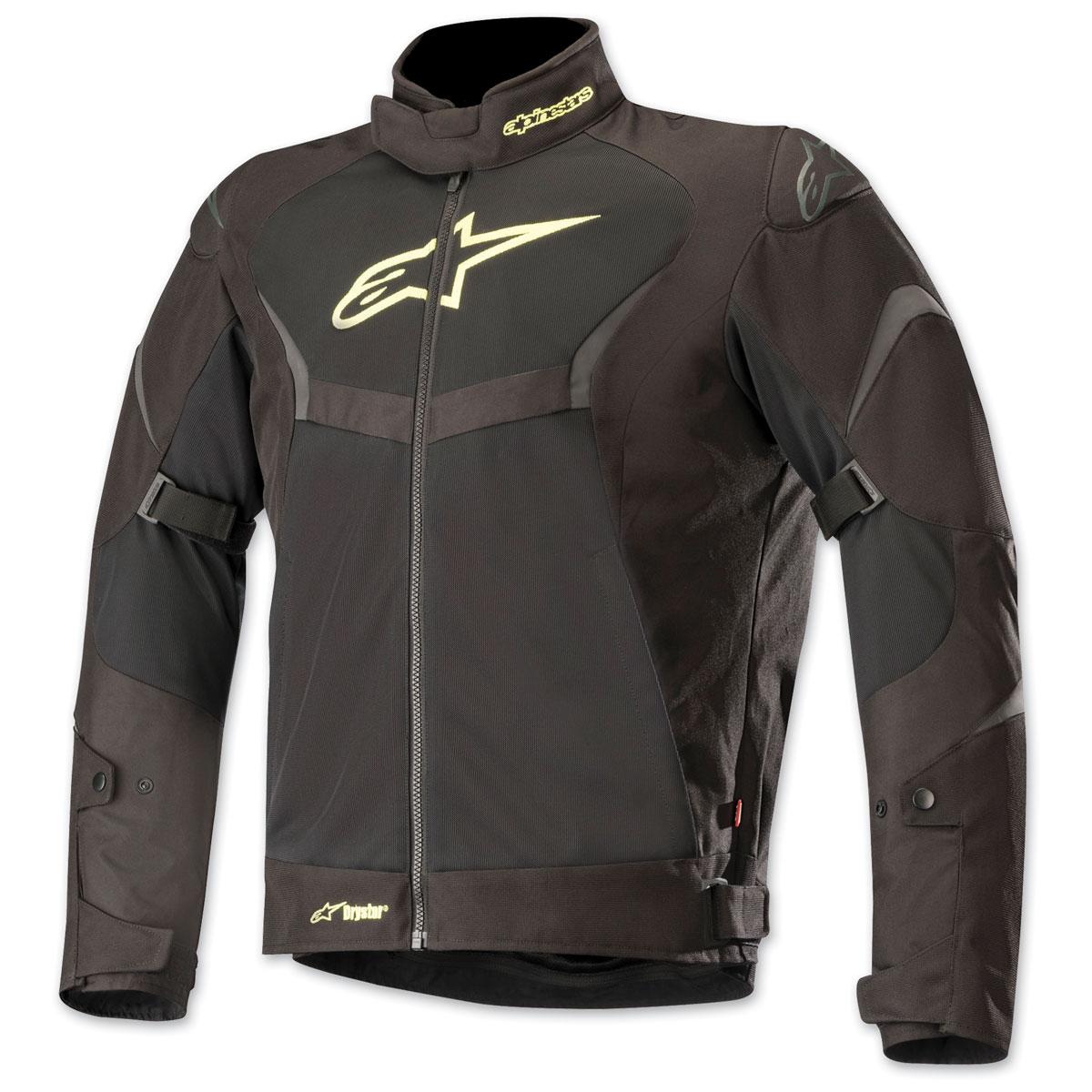 Alpinestars Men's T-Core Drystar Black/Yellow Textile Jacket
