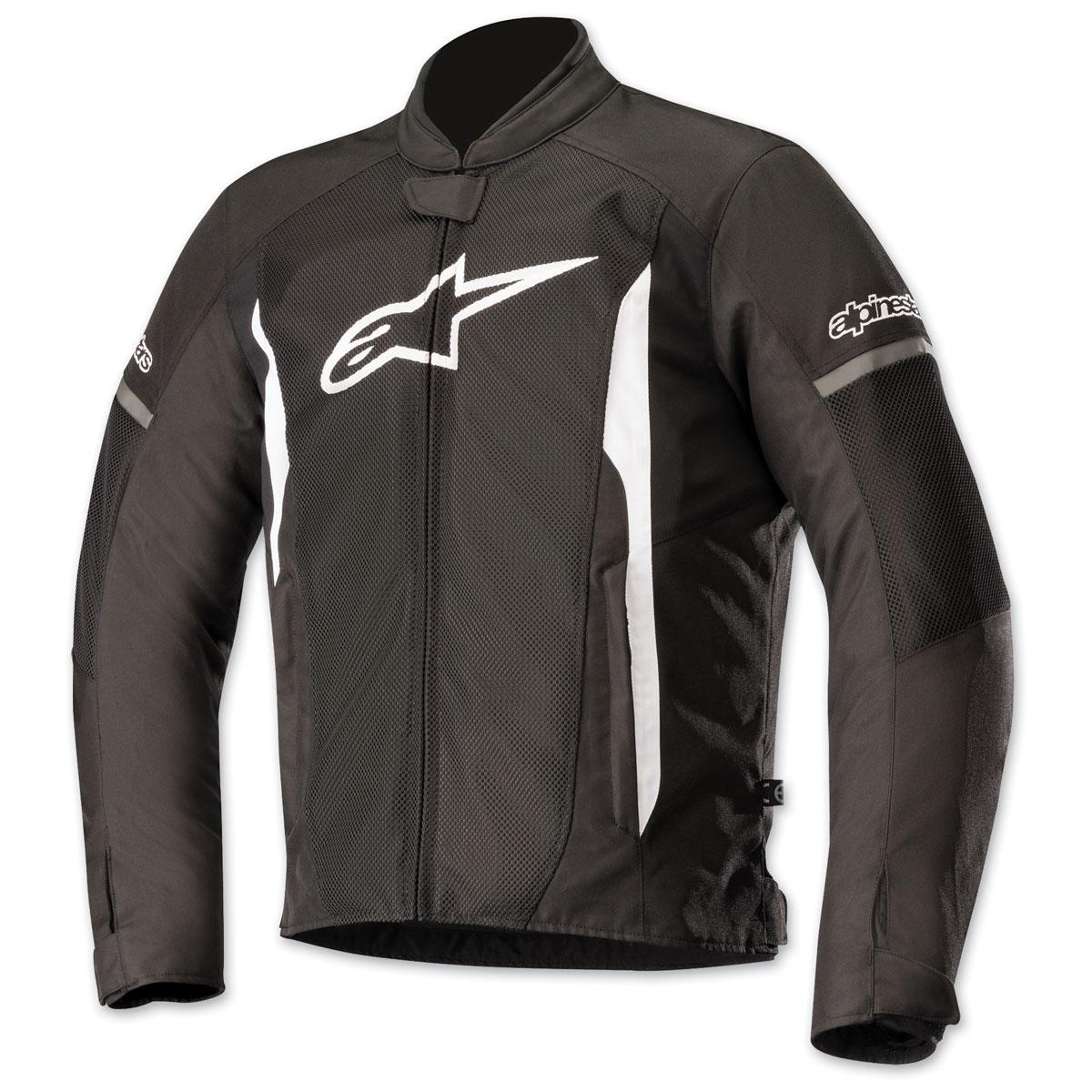 Alpinestars Men's T-Faster Air Black/White Textile Jacket