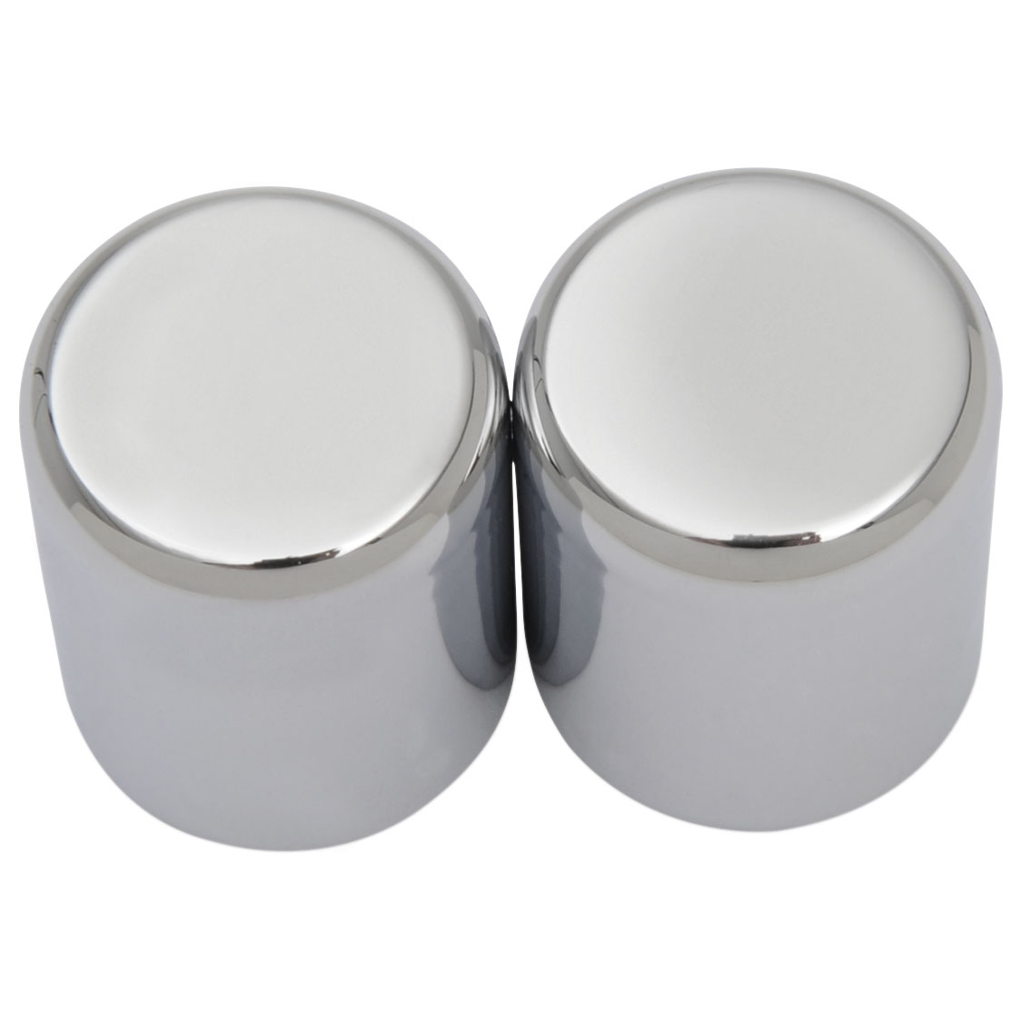 Drag Specialties Chrome Magnetic Docking Points Covers Small