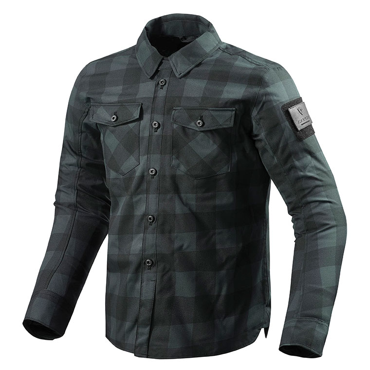 REV′IT! Men's Bison Black/Gray Overshirt