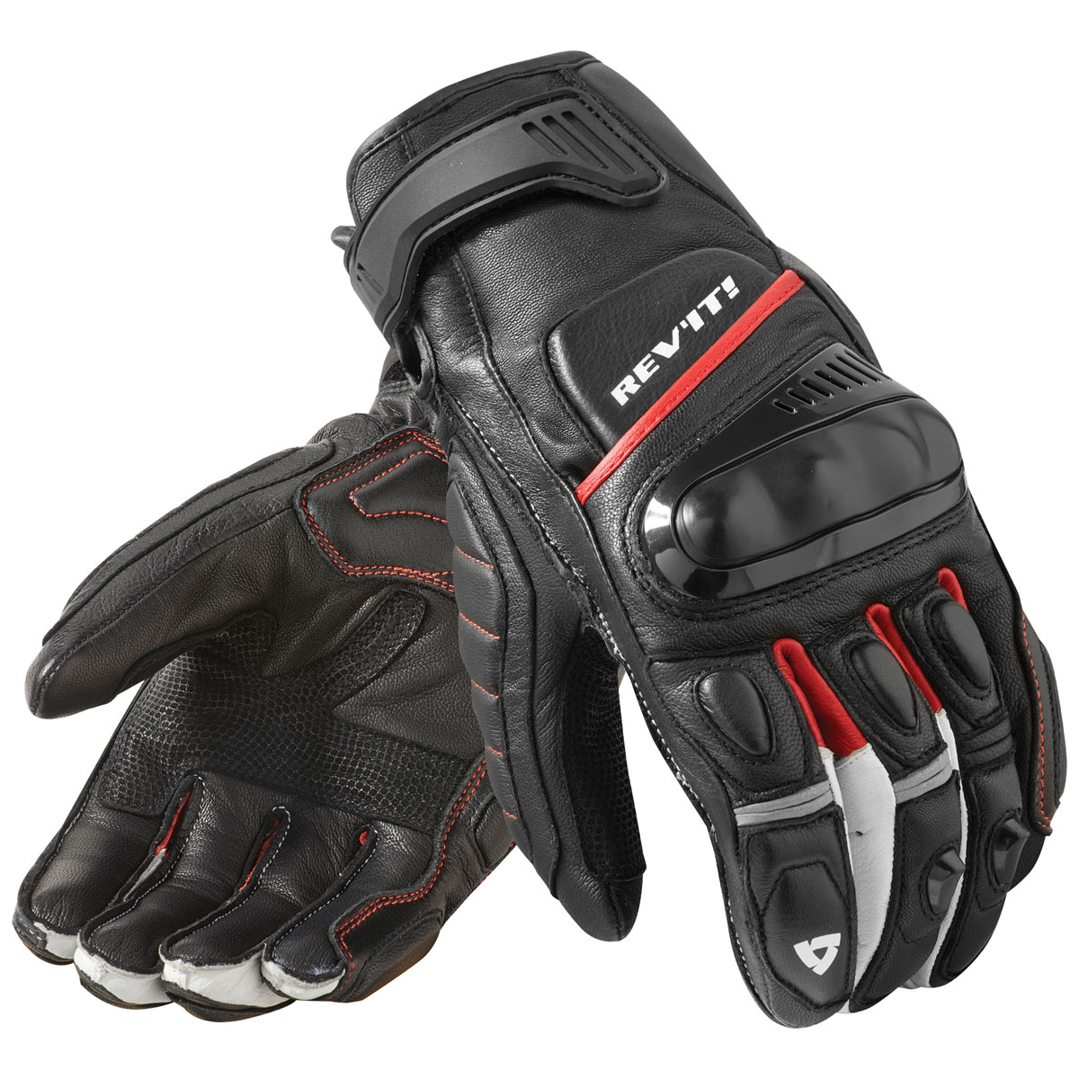 REV′IT! Men's Chicane Black/Red Gloves