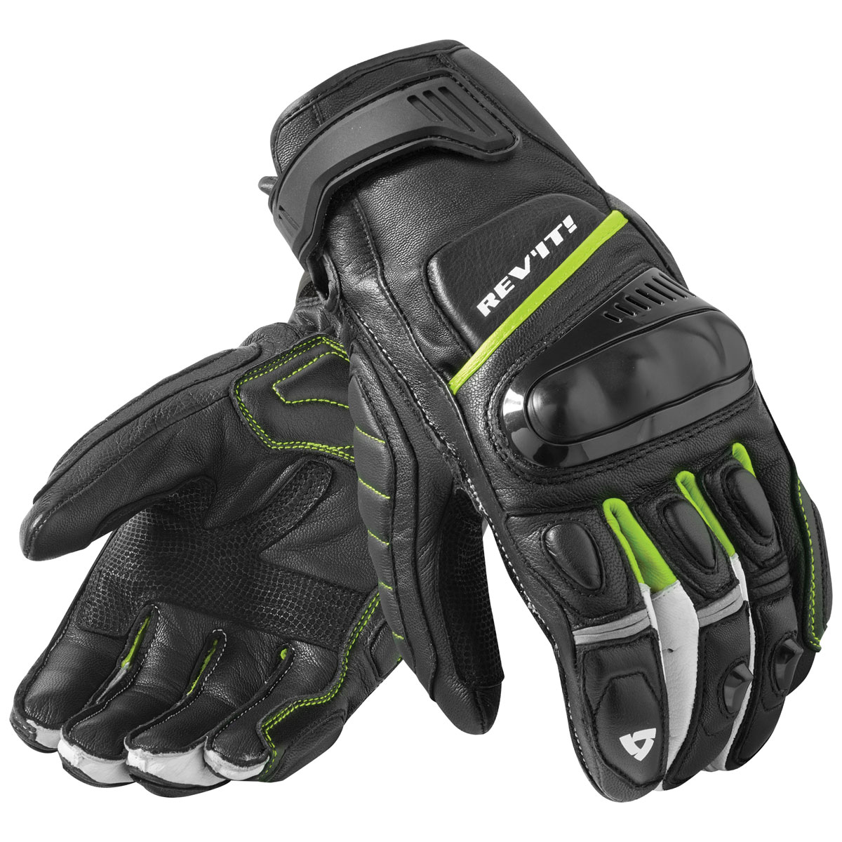 REV′IT! Men's Chicane Black/Neon Gloves