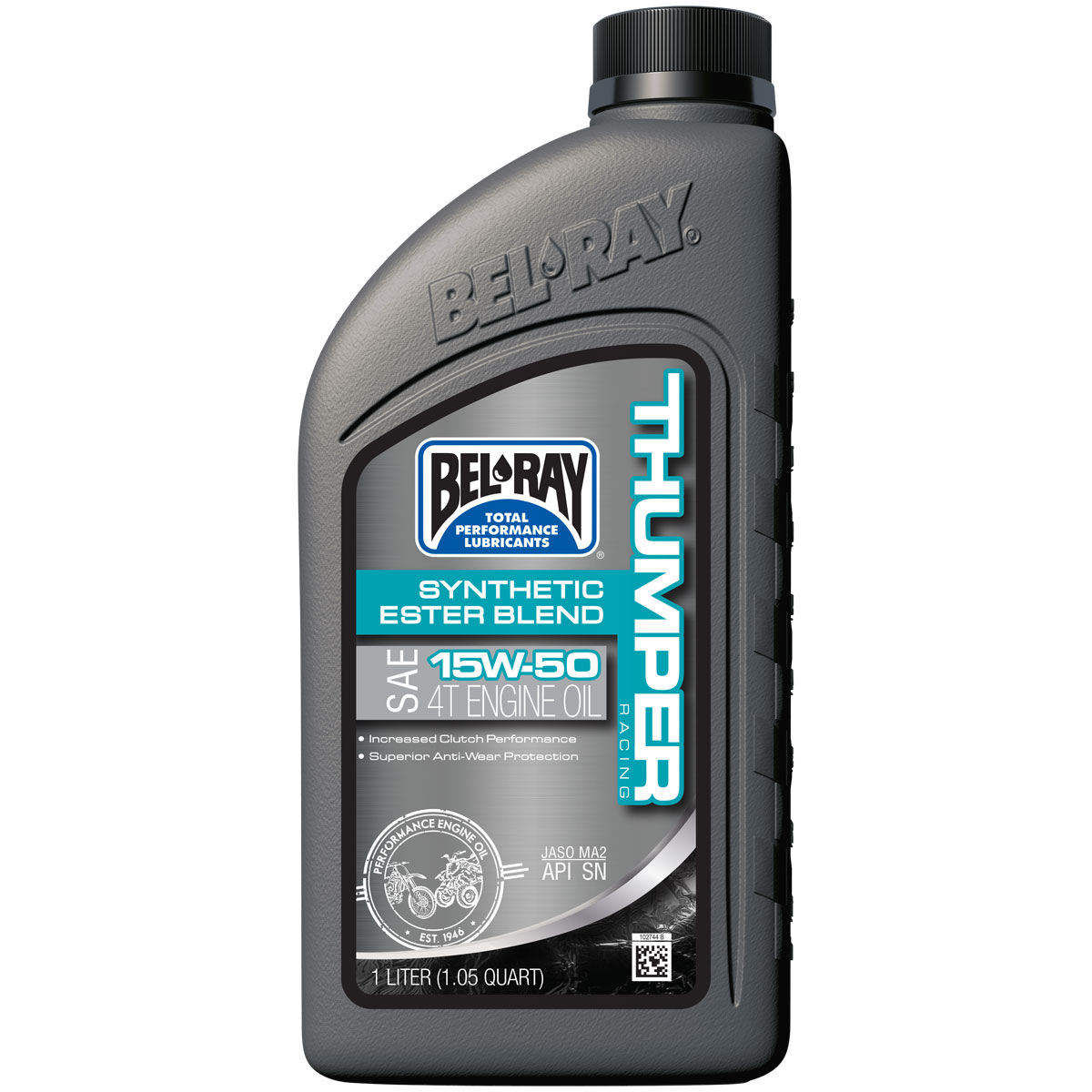 Bel-Ray Thumper Racing Synthetic Ester Blend 4T 15W50 Engine Oil 1 Liter