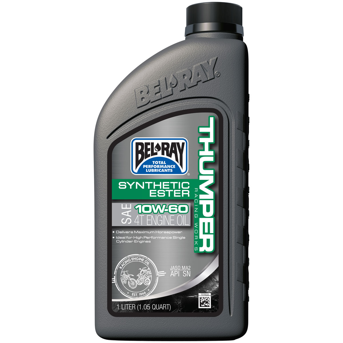 Bel-Ray Works Thumper Racing Synthetic Ester 4T 10W60 Engine Oil 1 Liter