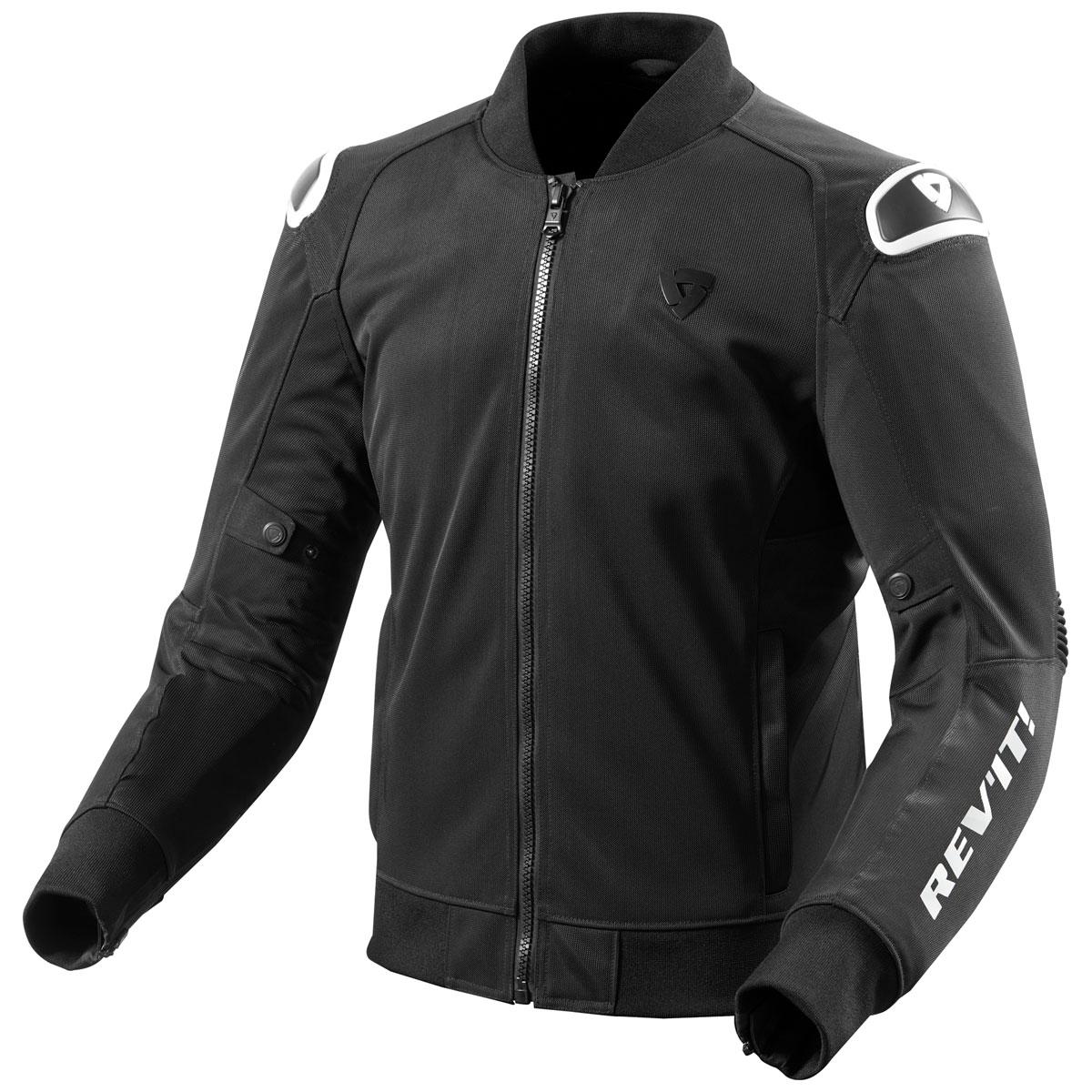 REV′IT! Men's Traction Black/White Jacket