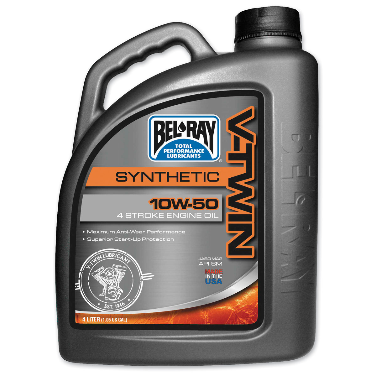 Bel-Ray V-Twin Synthetic 10W50 Engine Oil 4 Liter