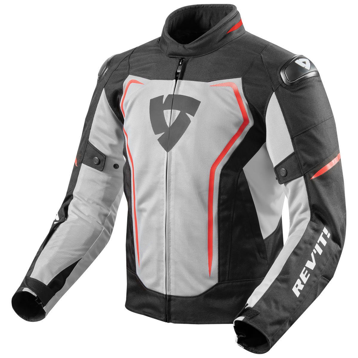 REV′IT! Men's Vertex Air Black/Red Jacket