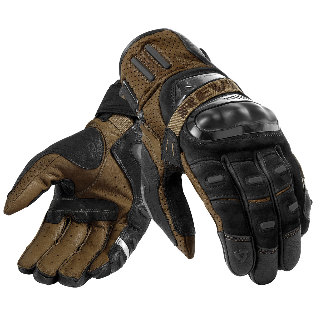 REV′IT! Men's Cayenne Pro Black/Sand Gloves