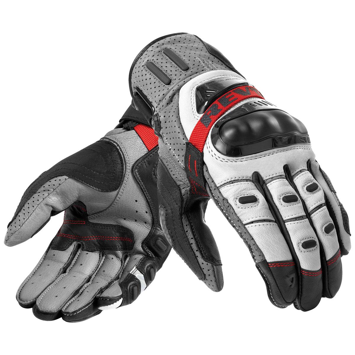 REV′IT! Men's Cayenne Pro Grey/Red Gloves