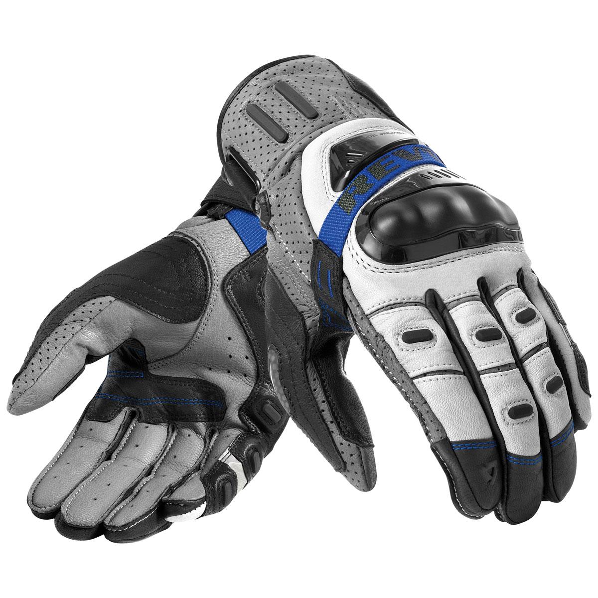 REV′IT! Men's Cayenne Pro Grey/Blue Gloves