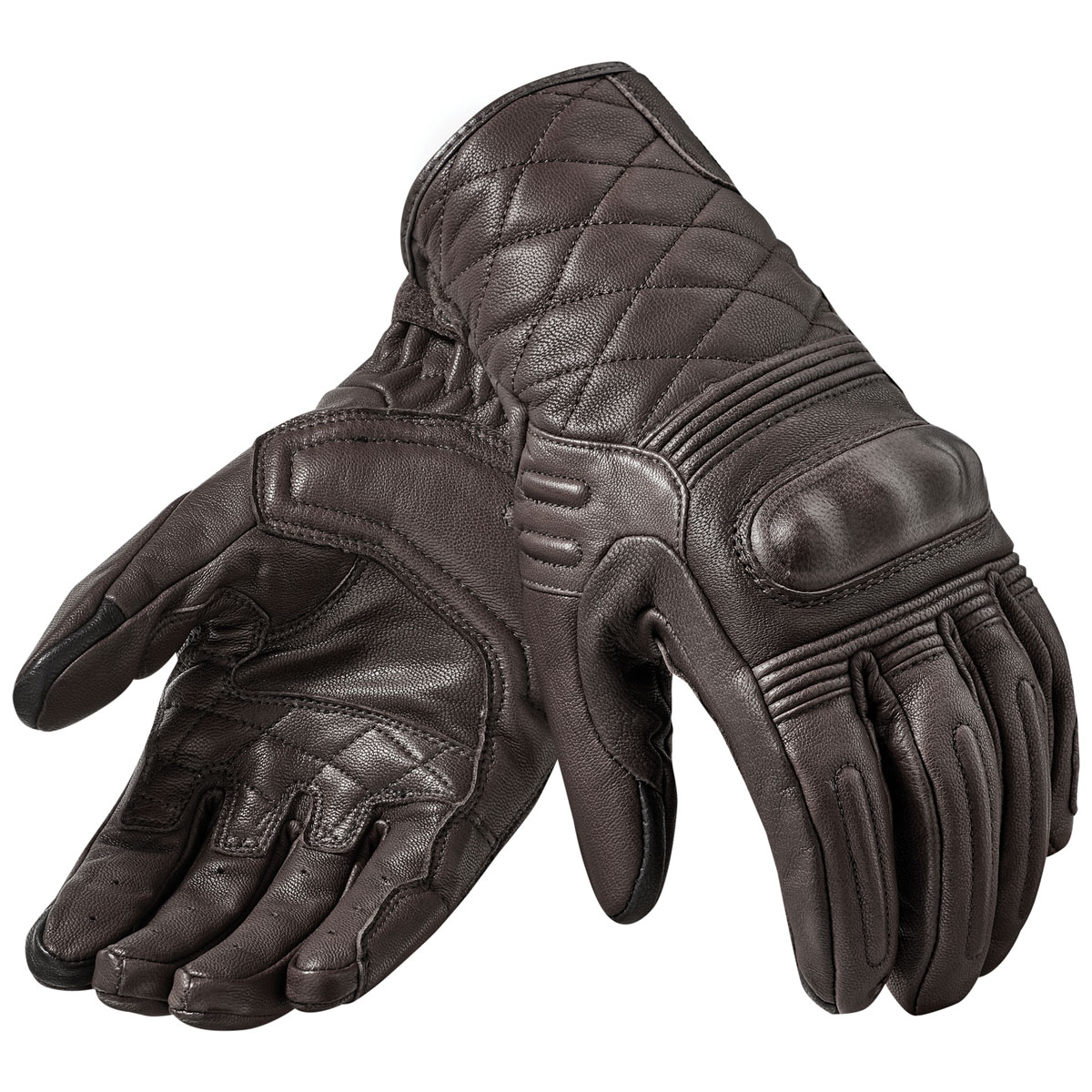 REV′IT! Men's Monster 2 Dark Brown Leather Gloves