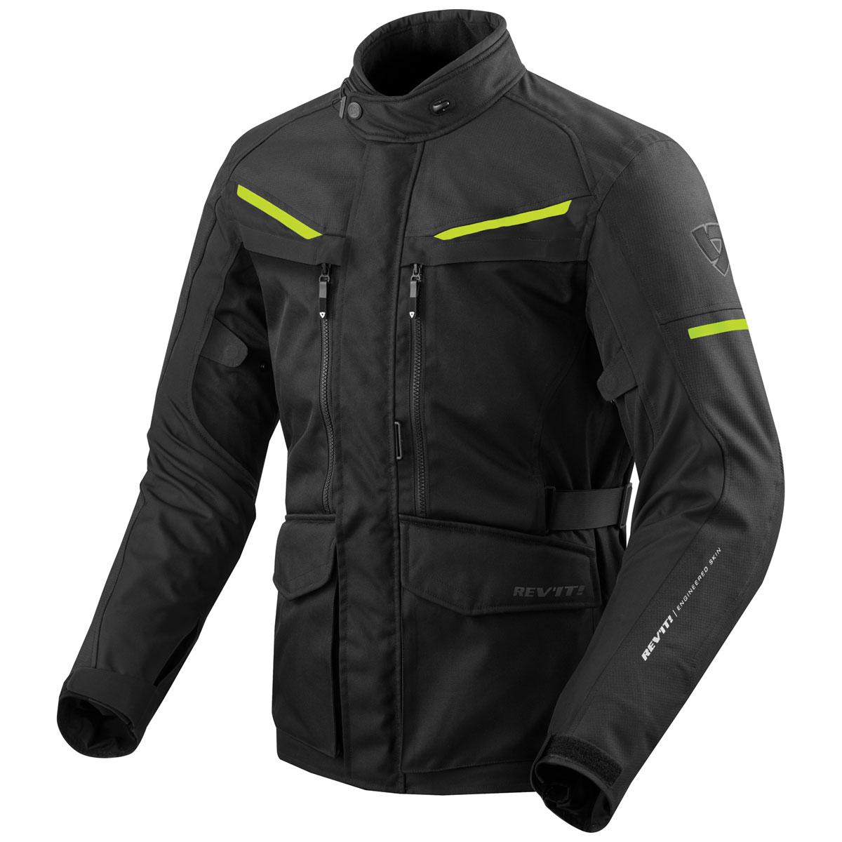 REV′IT! Men's Safari 3 Black/Neon Jacket