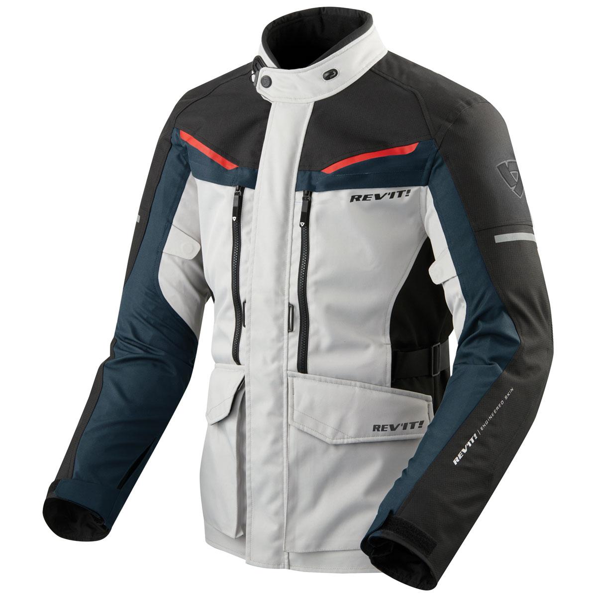 REV′IT! Men's Safari 3 Silver/Blue Jacket