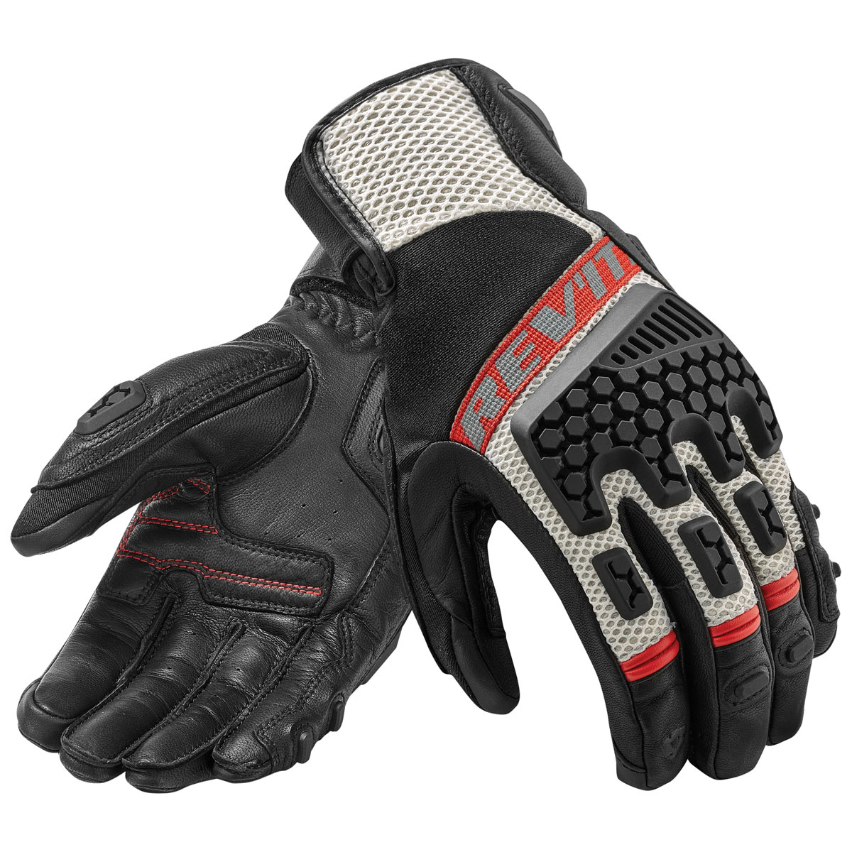 REV′IT! Men's Sand 3 Black/Red Gloves
