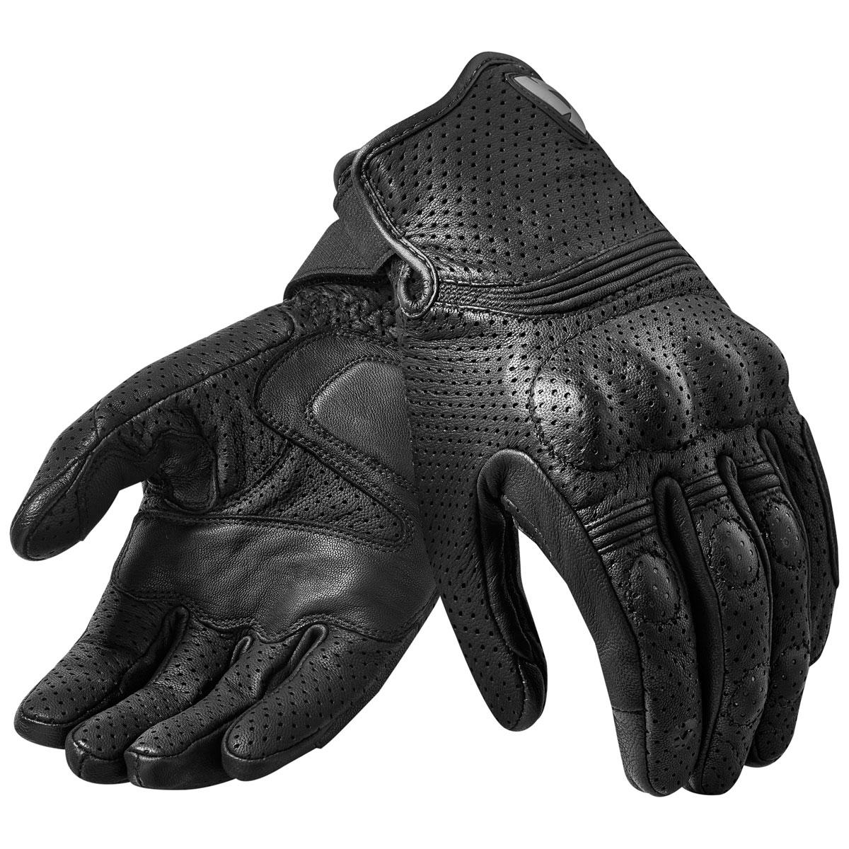 REV′IT! Men's Fly 2 Black Leather Gloves