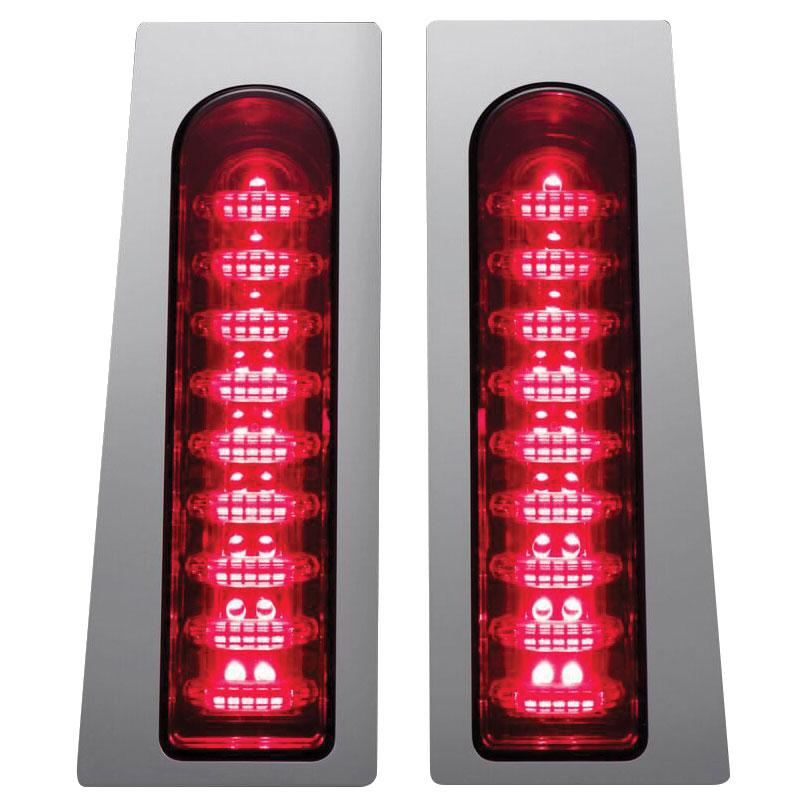 Custom Dynamics ProBEAM Fillerz Saddlebag Support LEDs, Chrome