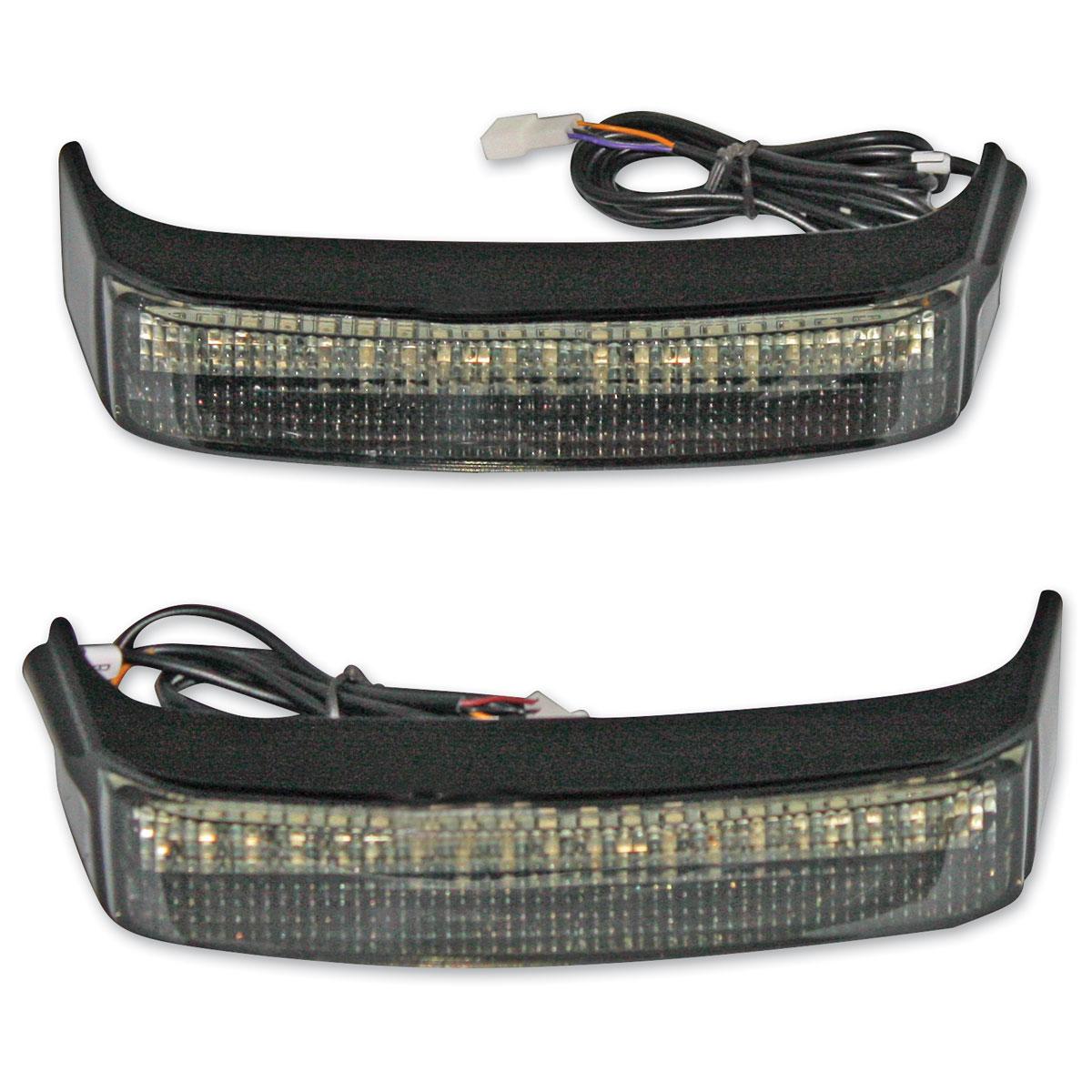 Custom Dynamics Black Sequential LED Bagz Saddlebag Lights
