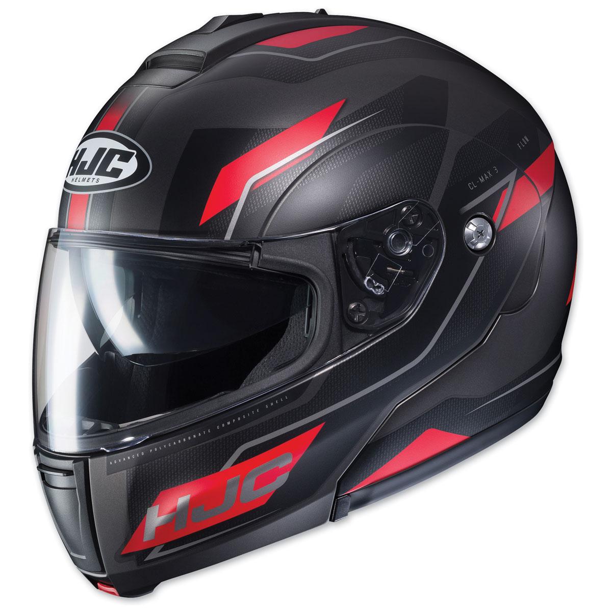 HJC CL-MAX 3 Flow Black/Red Modular Helmet