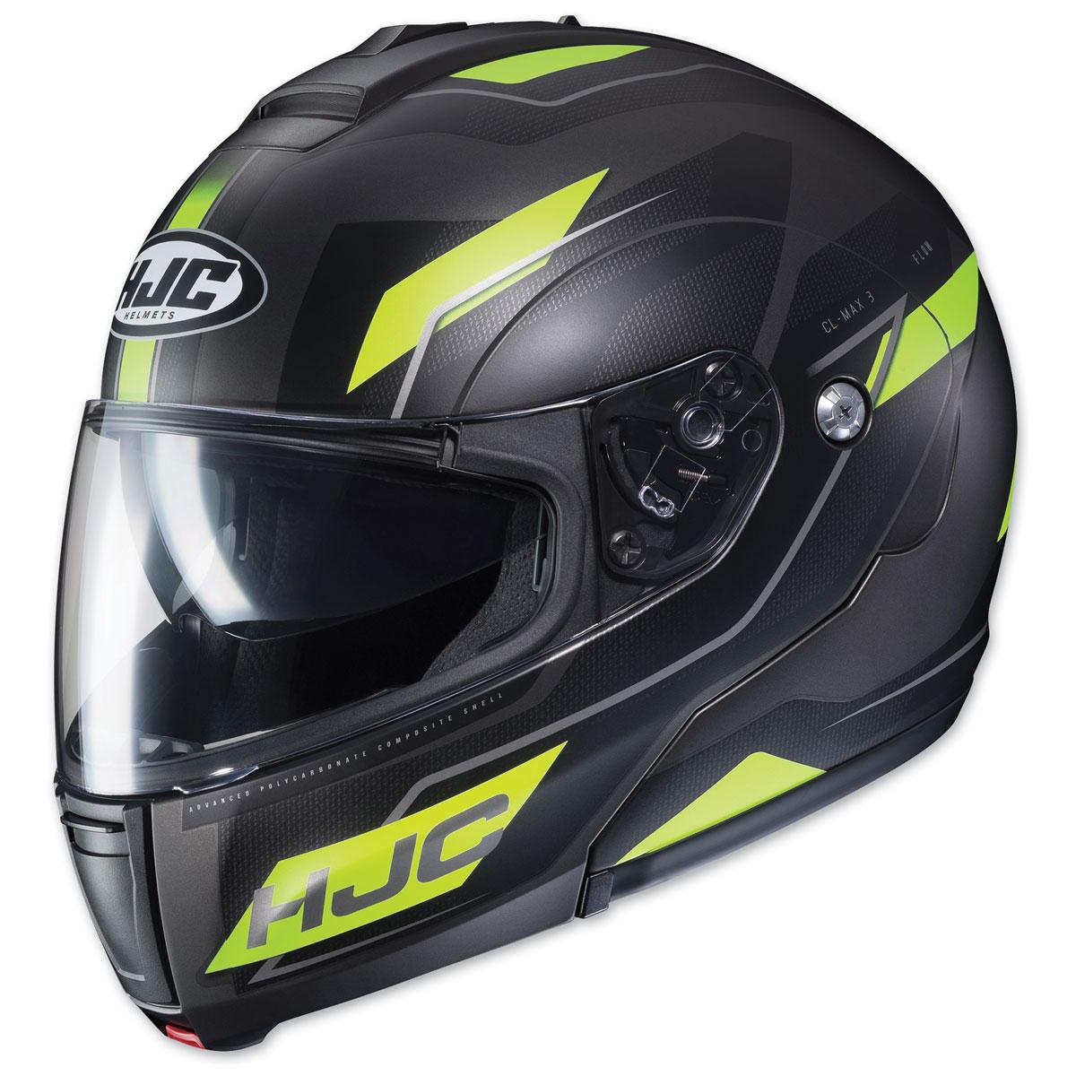 HJC CL-MAX 3 Flow Black/Neon Modular Helmet