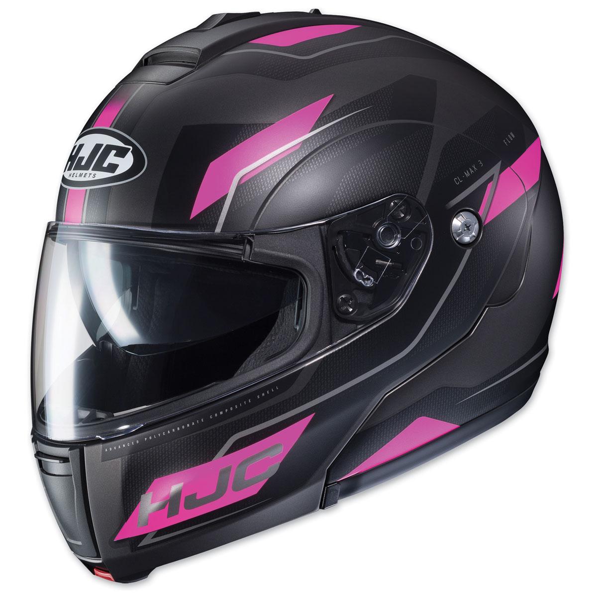 HJC CL-MAX 3 Flow Black/Pink Modular Helmet