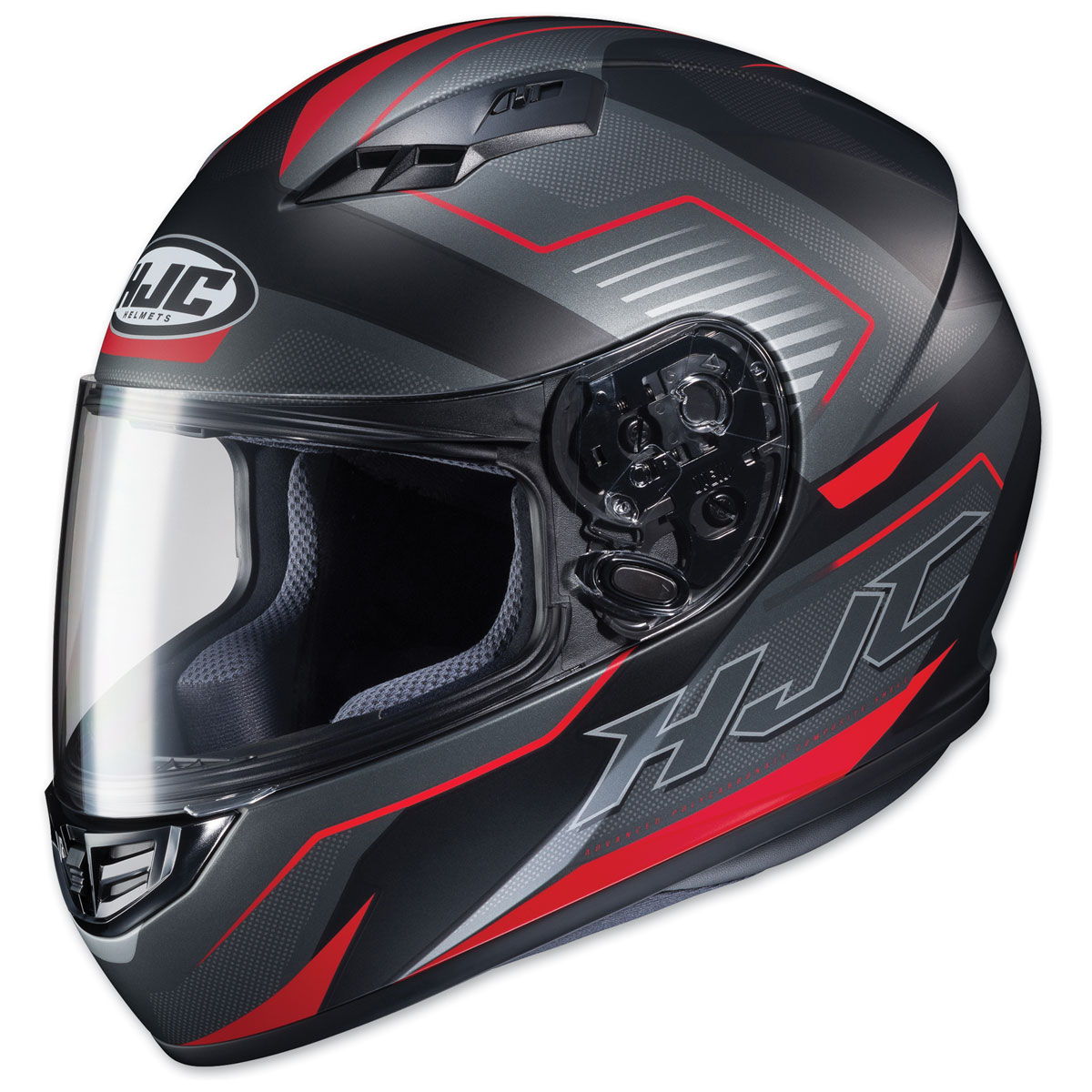 HJC CS-R3 Trion Semi Flat Black/Red Full Face Helmet