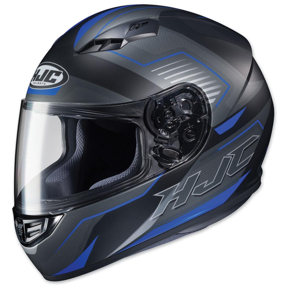 HJC CS-R3 Trion Semi Flat Black/Blue Full Face Helmet