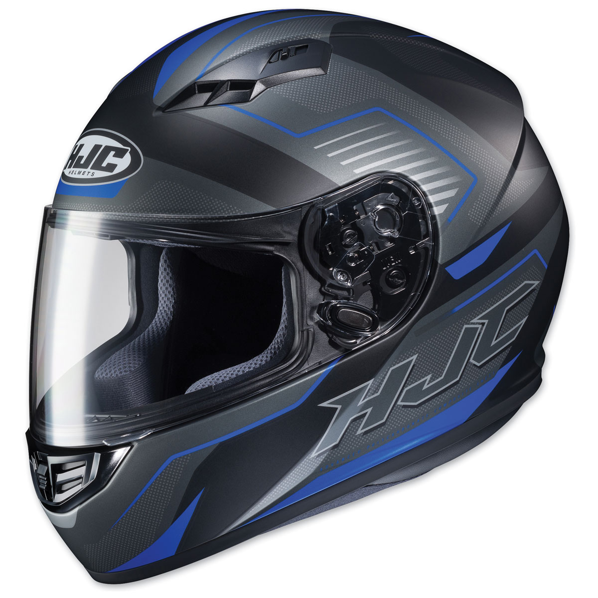 HJC CS-R3 Trion Semi Flat Black/Blue Full Face Helmet