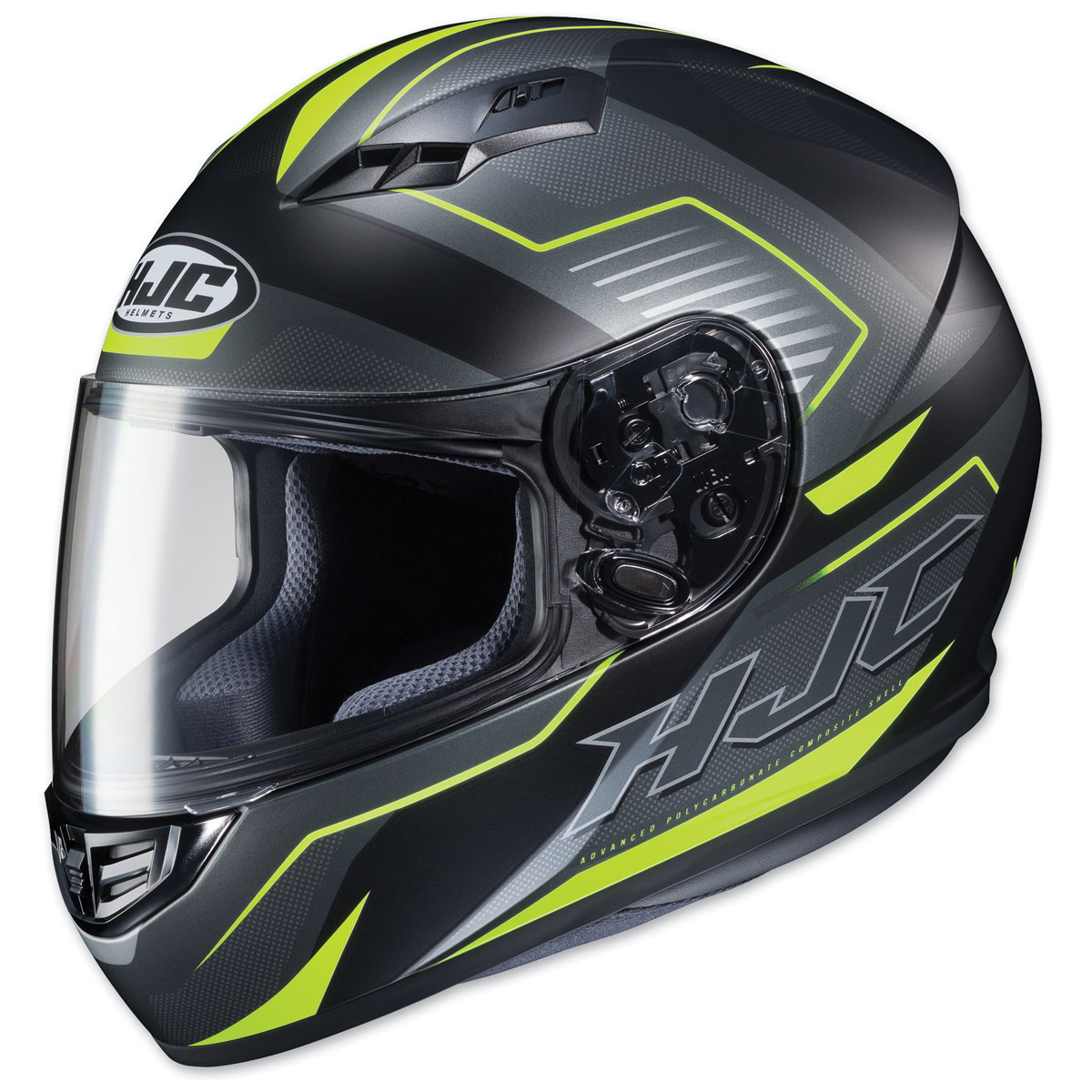 HJC CS-R3 Trion Semi Flat Black/Neon Full Face Helmet