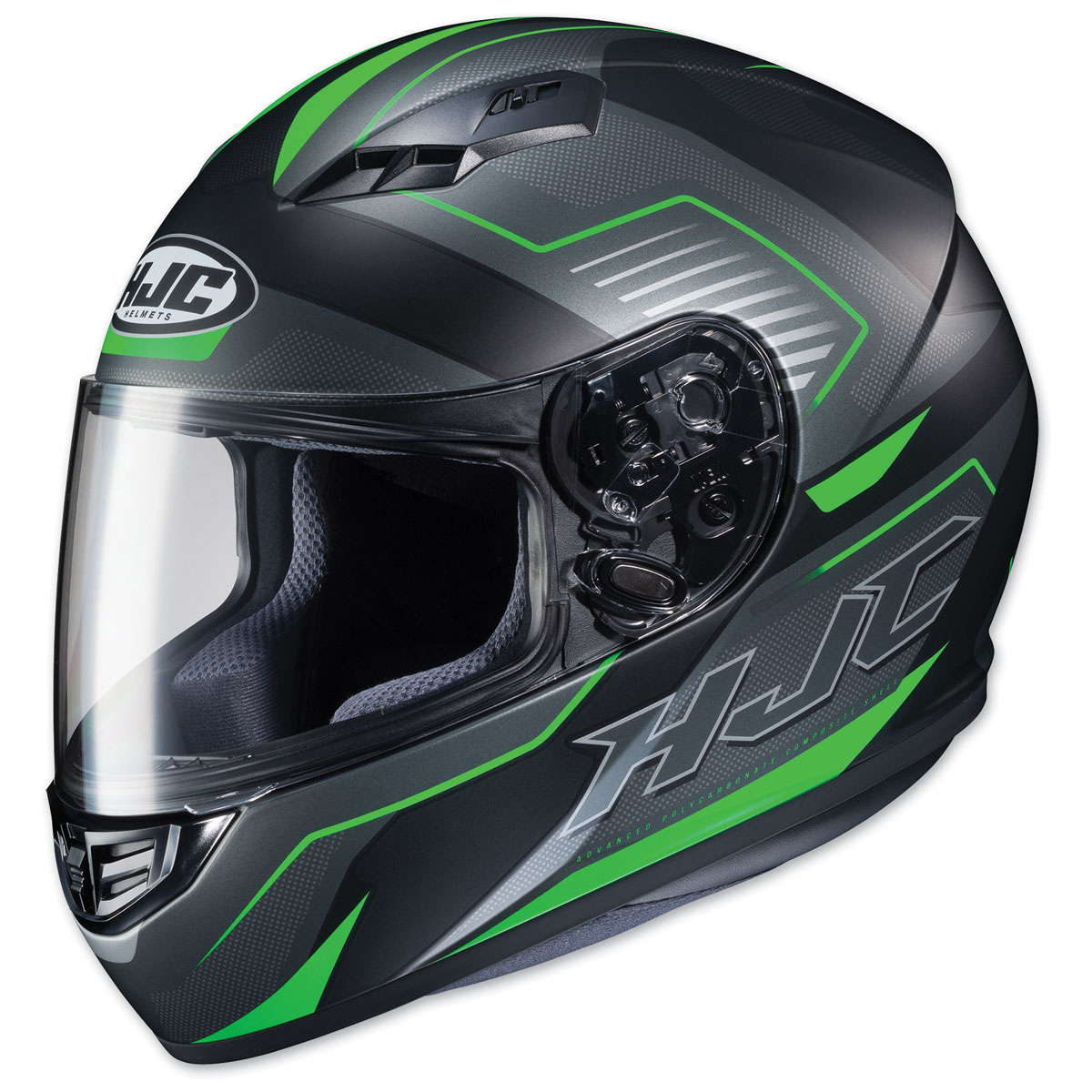 HJC CS-R3 Trion Semi Flat Black/Green Full Face Helmet