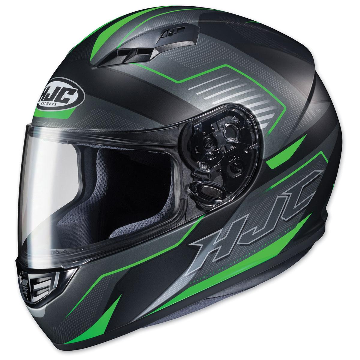 HJC CS-R3 Trion Semi Flat Black/Green Full Face Helmet