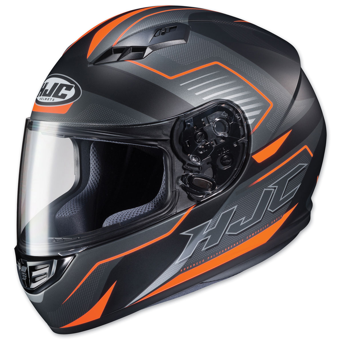 HJC CS-R3 Trion Semi Flat Black/Orange Full Face Helmet
