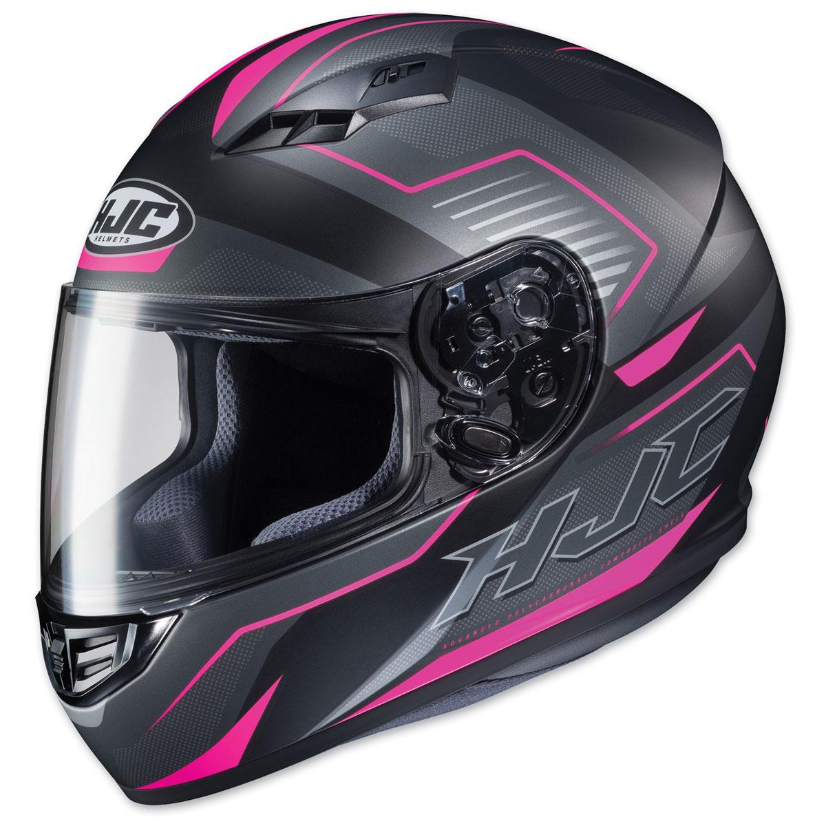 HJC CS-R3 Trion Semi Flat Black/Pink Full Face Helmet