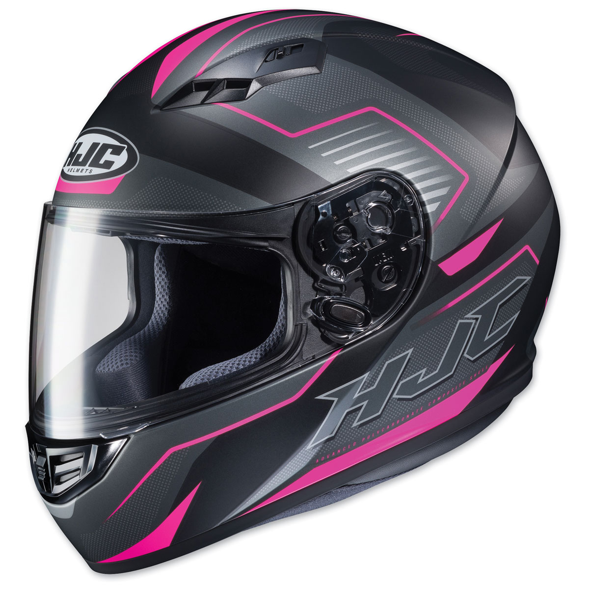 HJC CS-R3 Trion Semi Flat Black/Pink Full Face Helmet