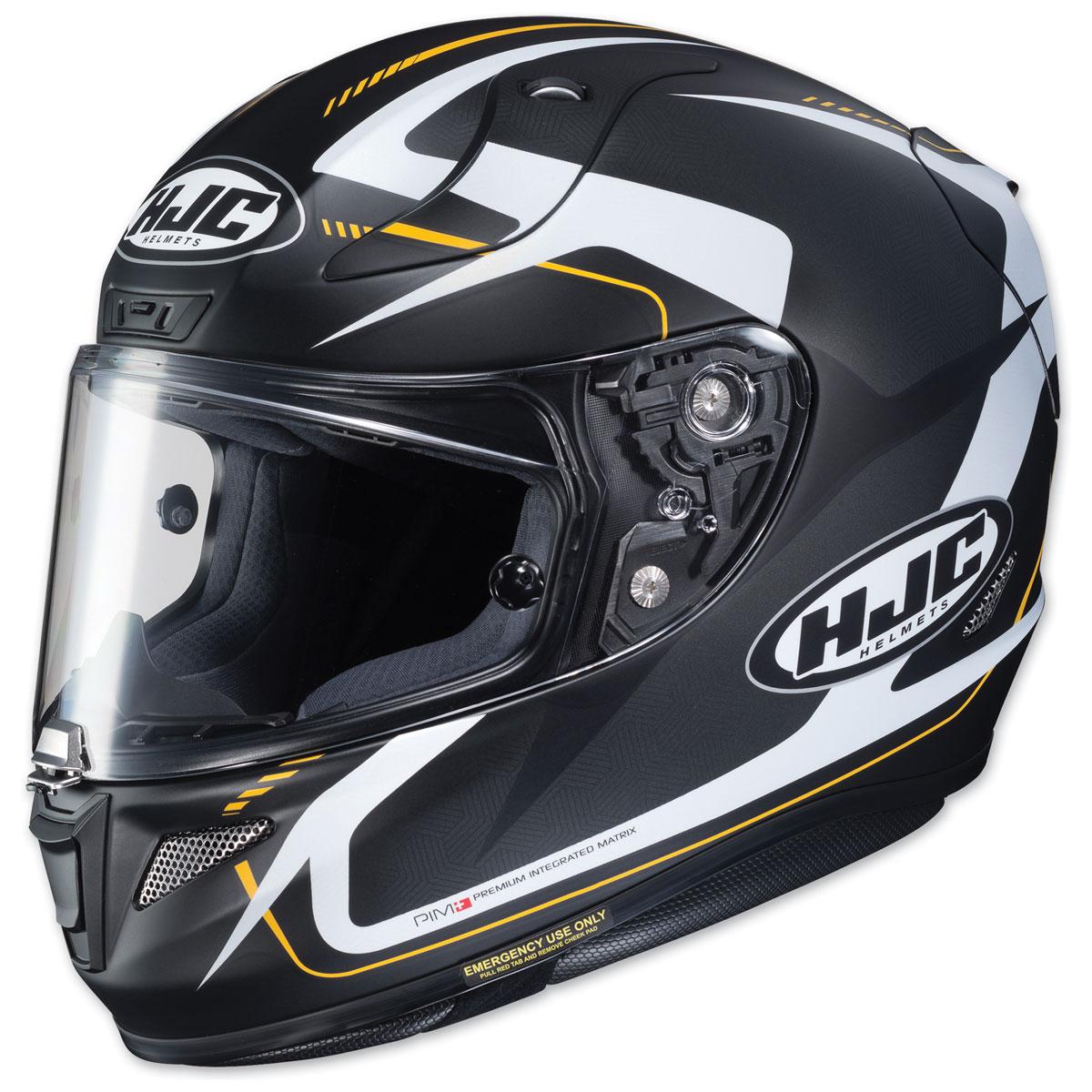 HJC RPHA 11 Pro Bludom Black/White/Yellow Full Face Helmet