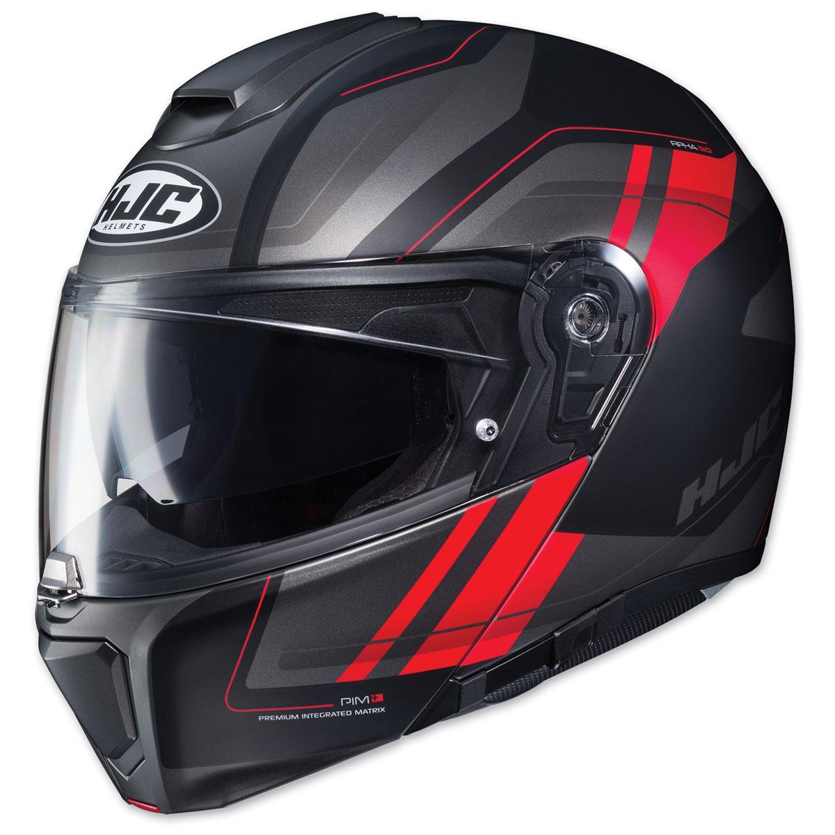 HJC RPHA-90 Tanisk Black/Red Modular Helmet