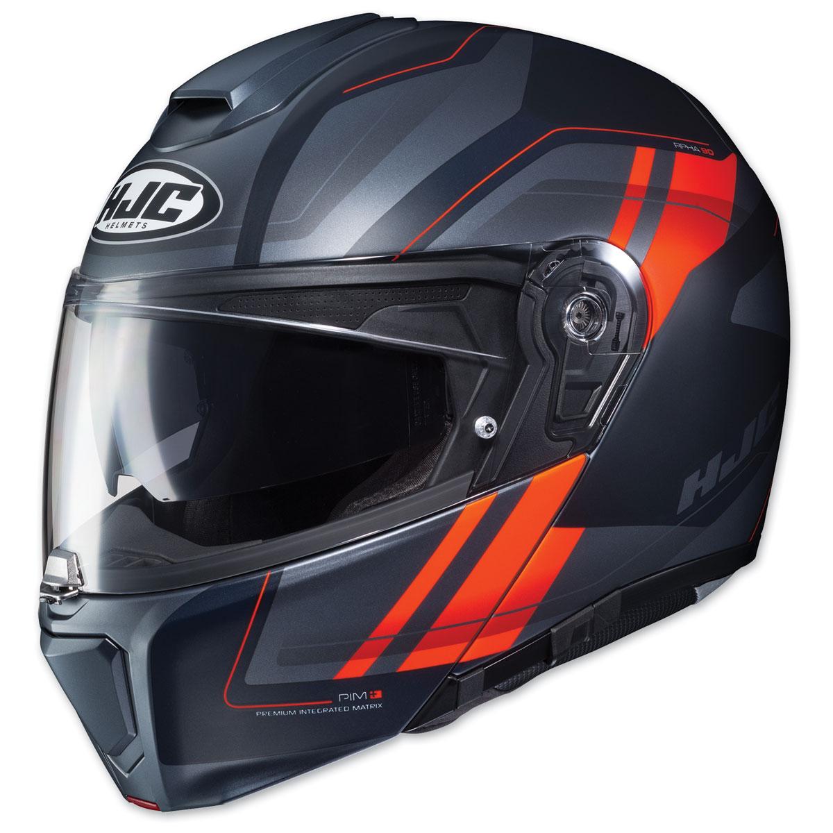 HJC RPHA-90 Tanisk Black/Orange Modular Helmet