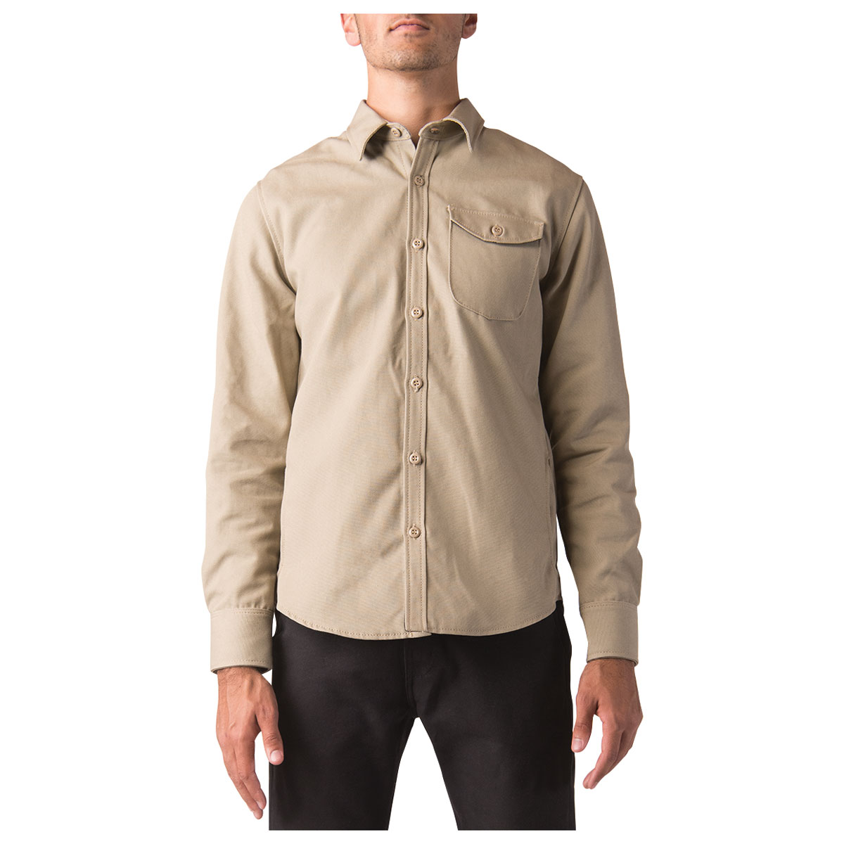 Dickies Moto Men's Iron Cloth Khaki Work Shirt