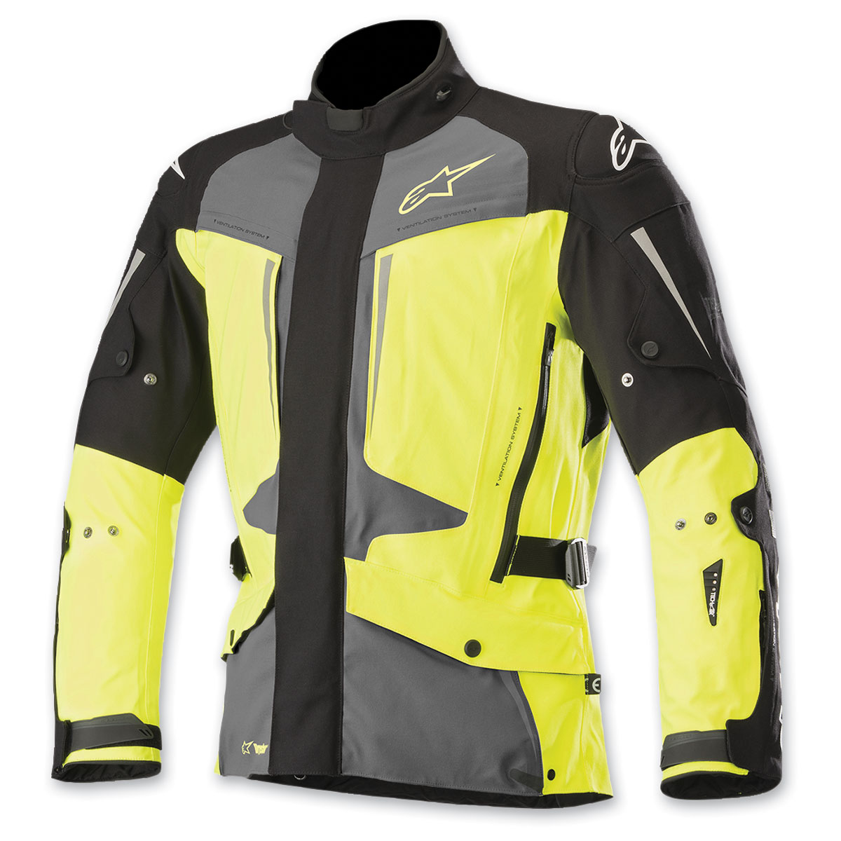 Alpinestars Men's Tech Air Street Compatible Yaguara Black/Gray/Yellow Jacket