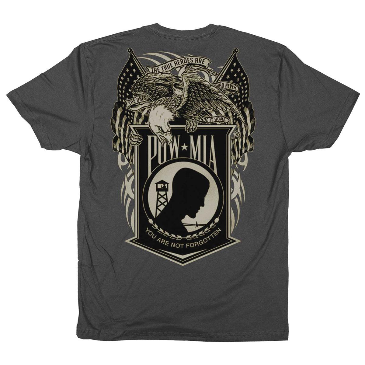 Iron Reaper Men's Eagle POW Charcoal T-Shirt