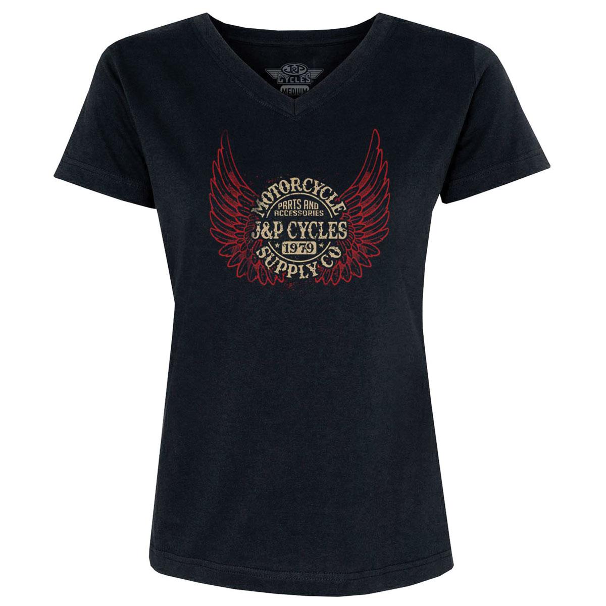 J&P Cycles Women's Heavenly Black T-Shirt