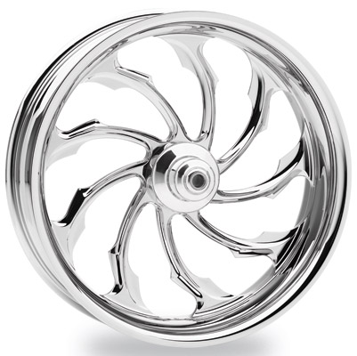 Performance Machine Torque Chrome Front Wheel, 21″ x 2.15″