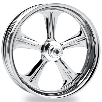 Performance Machine Wrath Chrome Rear Wheel, 18″ x 5.5″
