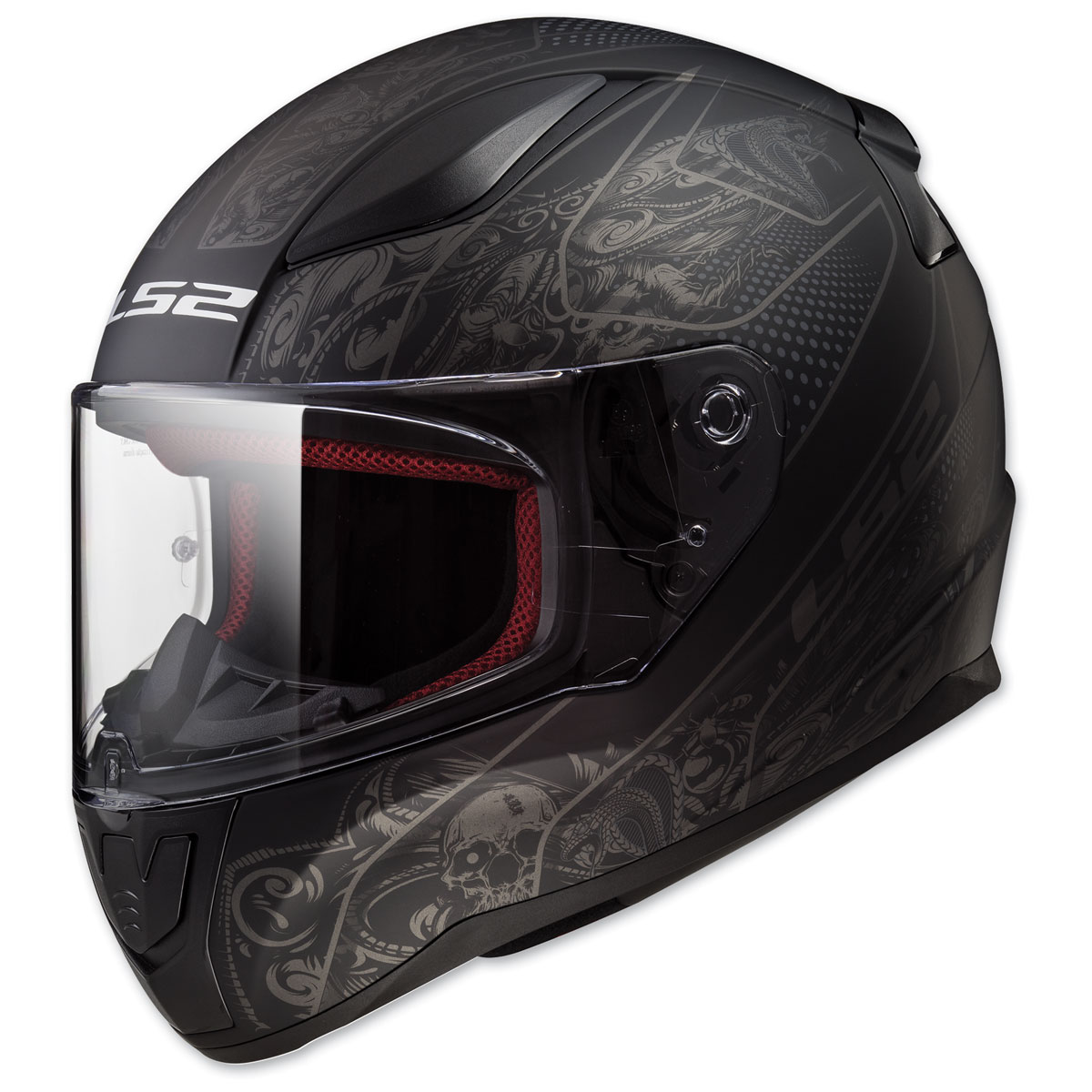 LS2 Rapid Crypt Matte Black Full Face Helmet